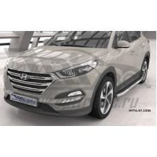 Пороги алюминиевые (Alyans) Hyundai Tucson (2015-) / Kia Sportage (2016-)