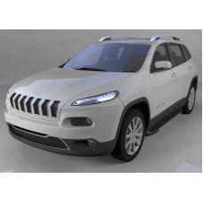 Пороги алюминиевые (Onyx) Jeep Cherokee Trailhawk (2014-)
