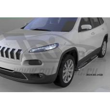 Пороги алюминиевые (Zirkon) Jeep Cherokee Trailhawk (2014-)
