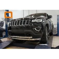 Защита переднего бампера Jeep Gr. Cherokee (2011-) (двойная) d 60/76