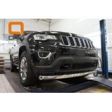 Защита переднего бампера Jeep Gr. Cherokee (2011-) (одинарная) d 76