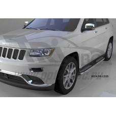 Пороги алюминиевые (Zirkon) Jeep Gr. Cherokee (2011-) (кроме SRT)