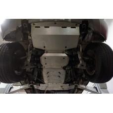 Защита днища KIA Mohave V-3,0 TDI АККП (2008-) 4 части (Алюминий 4 мм)