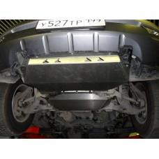 Защита картера двигателя и кпп KIA Mohave V-3,0 TDI АККП (2008-)+радиатор из 2-х частей (Алюминий 4