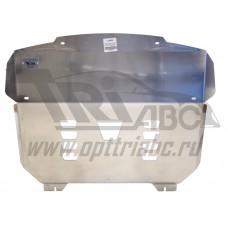 Защита картера двигателя и кпп Kia Sorento Prime (Киа Соренто) V-все (2015-), усиленная  (Алюминий 4