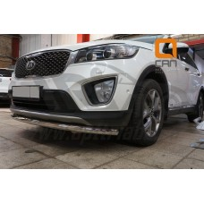 Защита переднего бампера Kia Sorento Prime (2015-) (одинарная) d 60