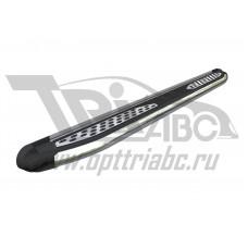 Пороги алюминиевые (Zirkon) Kia Sportage (Киа Спортаж) (2005-2010)
