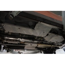 Защита днища Kia Sportage (Киа Спортаж) V-все (2010-) из 5 частей, без защиты картера(Алюминий 4 мм)