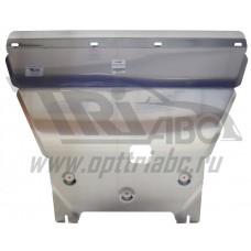 Защита картера двигателя и кпп Kia Sportage (Киа Спортаж) V-все (2010-02.2016)  (Алюминий 4 мм)