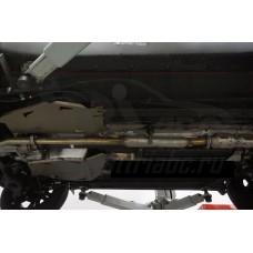 Защита топливного бака Kia Sportage (Киа Спортаж) V-все (2010-02.2016)из 2-х частей (Алюминий 4 мм)
