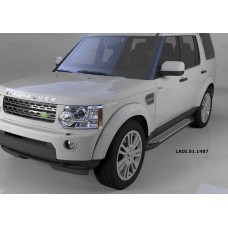 Пороги алюминиевые (Sapphire Silver) Land Rover Discovery 4 (2010-)/Discovery 3 (2008-2010)