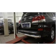 Защита заднего бампера Lexus LX570 (2014-2015 / 2015-) (одинарная) d 76