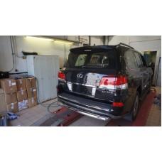 Защита заднего бампера Lexus LX570 Sport (2014-2015) (одинарная) d 76