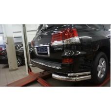 Защита заднего бампера Lexus LX570 Sport (2014-2015) (уголки) d76/42