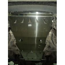 Защита днища Mitsubishi L-200 , V-2,5TD;АКПП (2006-)из 4х частей (картер, КПП, РК, топливный бак) (А