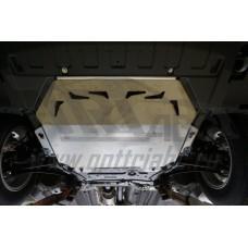 Защита картера двигателя и кпп Mitsubishi Outlander (Митсубиши Аутлендер) V-2.0;2.4;3.0 (10.2015-) (