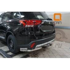 Защита заднего бампера Mitsubishi Outlander (2015-) (уголки) d 60/42