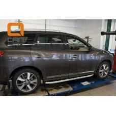 Пороги алюминиевые (Alyans) Nissan Pathfinder (2014-)