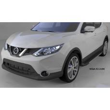 Пороги алюминиевые (Onyx) Nissan Qashqai (Ниссан Кашкай) (2014-)