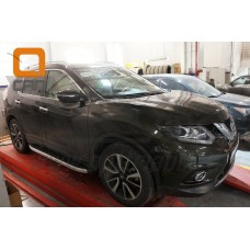 Пороги алюминиевые (Alyans) Nissan X-Trail (2014-)