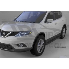 Пороги алюминиевые (Corund Black) Nissan X-Trail (2014-)
