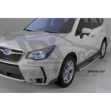 Пороги алюминиевые (Zirkon) Subaru Forester (2013-)