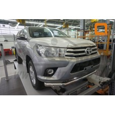 Защита переднего бампера Toyota Hilux (2015-) (одинарная) d76