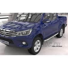 Пороги алюминиевые (Alyans) Toyota HiLux (2015-)