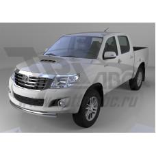 Защита переднего бампера Toyota Hilux (2012-2015) короткая (овал) d 75x42*