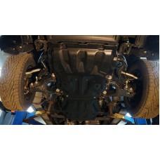 Защита картера двигателя и кпп Toyota Tundra, V-5.7; 4WD(2013-), из 2-х частей