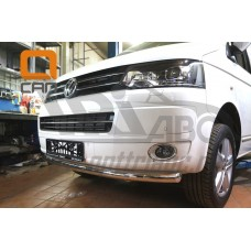 Защита переднего бампера Volkswagen T5 (2012-) /T6 (2015-)  (одинарная) d 60