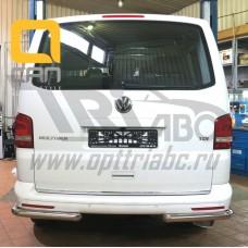 Защита заднего бампера Volkswagen T5 /T6 (2012-) (уголки) d 60