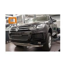 Защита переднего бампера Volkswagen Touareg (2010-) (двойная) d60/60*