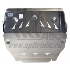Защита картера двигателя и кпп Volvo (Вольво) ХС 90 V-все кроме 4,4 (2002-05.2015)  (Алюминий 4 мм)