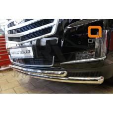 Защита переднего бампера Cadillac Escalade (2014-) (двойная) d 76/76