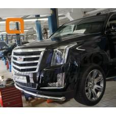 Защита переднего бампера Cadillac Escalade (2014-) (одинарная) d 76