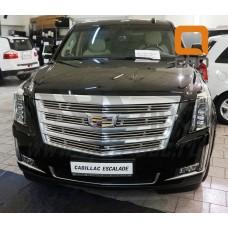 Решетка переднего бампера Cadillac Escalade (2014-) d12 (кроме к-ции Platinum)