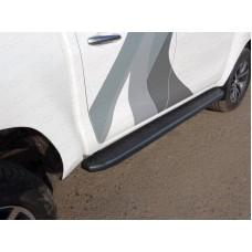 Пороги алюминиевые с пластиковой накладкой (карбон черный) 1920 мм код TOYHILUX15-12BL