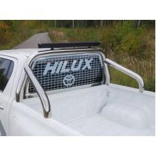 Защита кузова и заднего стекла 76,1 мм со светодиодной фарой код TOYHILUX15-17