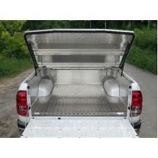 Защитный алюминиевый вкладыш в кузов автомобиля (без борта) код TOYHILUX15-22