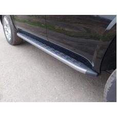 Пороги алюминиевые с пластиковой накладкой (карбон серые) 1920 мм код CHEVTAH16-09GR