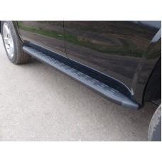 Пороги алюминиевые с пластиковой накладкой (карбон черные) 1920 мм код CHEVTAH16-09BL