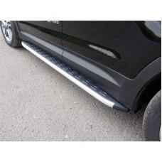 Пороги алюминиевые с пластиковой накладкой 1720 мм код HYUNTUC15-10AL