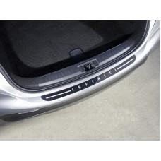 Накладка на задний бампер (лист зеркальный надпись Infiniti) код INFQX3016-05