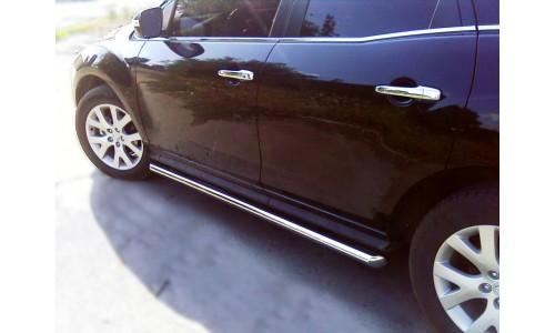 Пороги труба d-60 (MSX_3) на Mazda CX-7 (2006-2010)