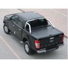 Крышка пикапа Ford Ranger 2012-(рольставни)черная алюминиевая под штатные дуги