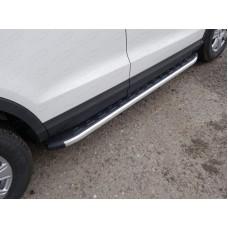 Пороги алюминиевые с пластиковой накладкой 1720 мм код AUDIQ315-01AL
