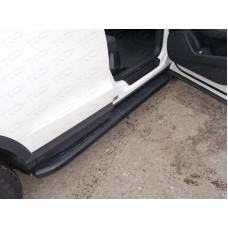 Пороги алюминиевые с пластиковой накладкой (карбон черные) 1720 мм код AUDIQ315-01BL