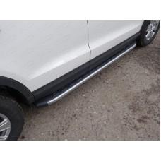 Пороги алюминиевые с пластиковой накладкой (карбон серебро) 1720 мм код AUDIQ315-01SL