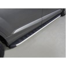 Пороги алюминиевые с пластиковой накладкой 2020 мм код AUDIQ715-01AL